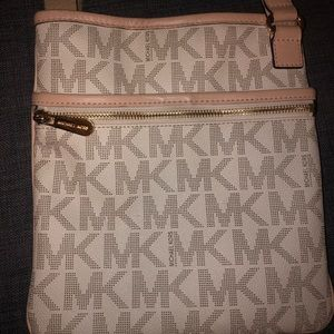 Michael Kors cream logo crossbody bag (original)